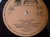 Supertramp Famous last words LP vinyl